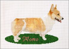 Title : Momo on Green